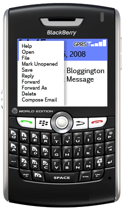 blackberry menu inbox