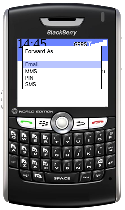 blackberry forward email
