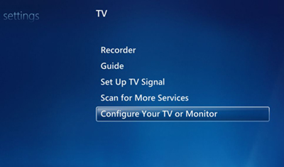 configure tv signal