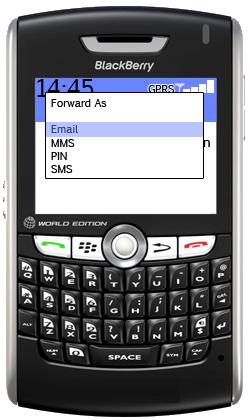 blackberry forward email